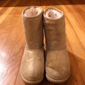 Gold Winter Boots